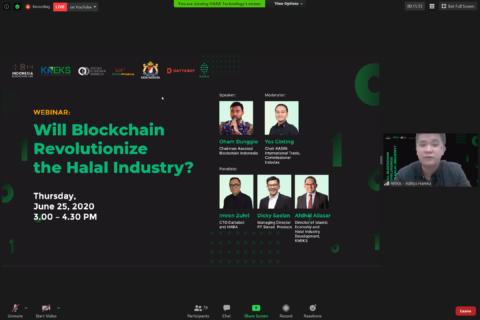 MC at a Blockchain Webinar