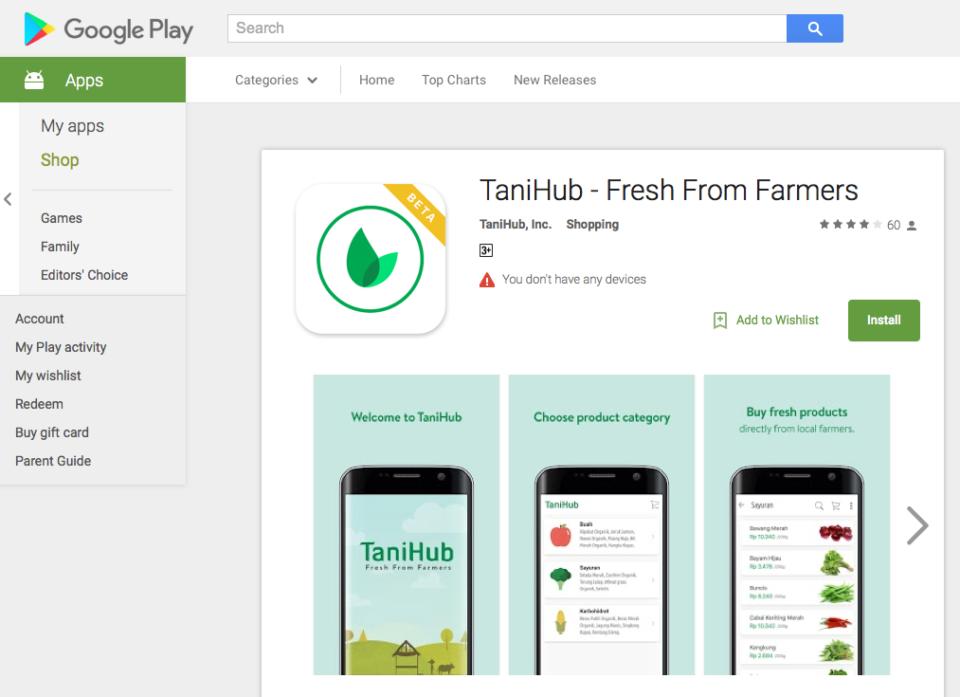 TaniHub at GooglePlay