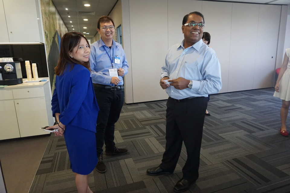 @NetApp office, Left to right: Ms. Aileen Tang, Mr. Antonius Kurniawan, Mr. Krhisna Arani