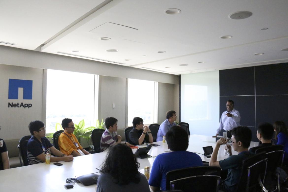 Company visit Singapore, Vice President & Managing Director of NetApp East Asia Mr. Krishna Arani