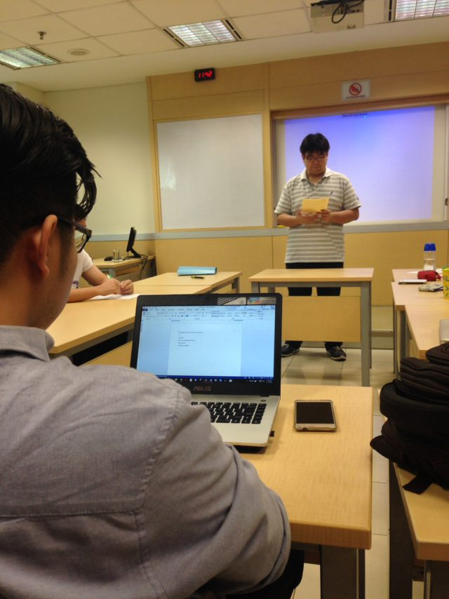 April 2016, Interclass Debate Adjudicated by Melvin 2