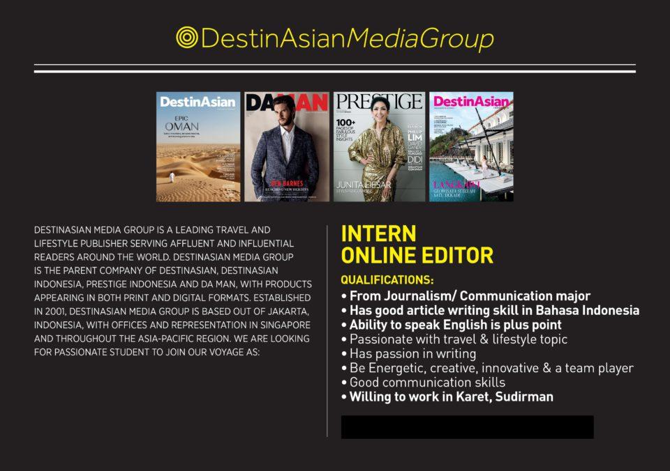 DestinAsian – Intern Online Editor