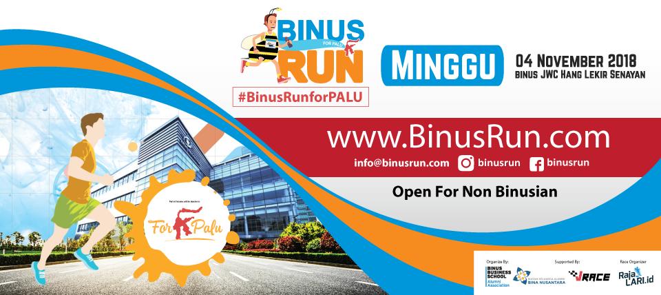 BINUS RUN for PALU 2018! #BINUSRUNFORPALU