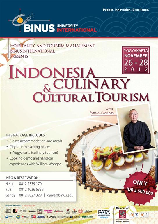 Indonesia Culinary & Cultural Tourism BINUS INTERNATIONAL