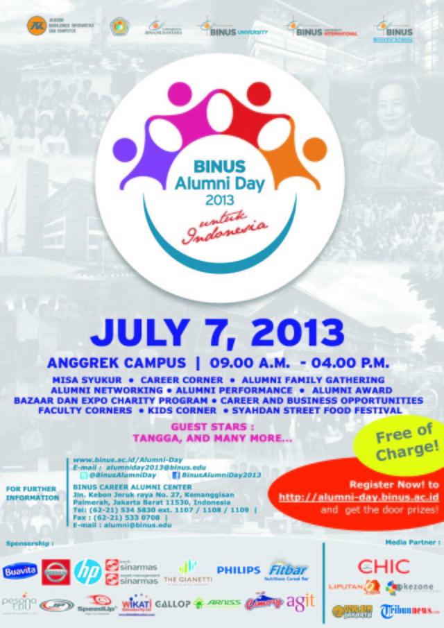 Poster Binus Alumni Day