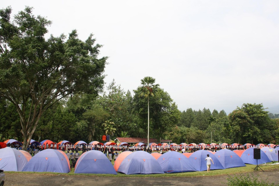 Tents for participants outbound (BINUSIAN 2017)