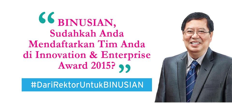 INNOVATION AND ENTERPRISE AWARD 2015