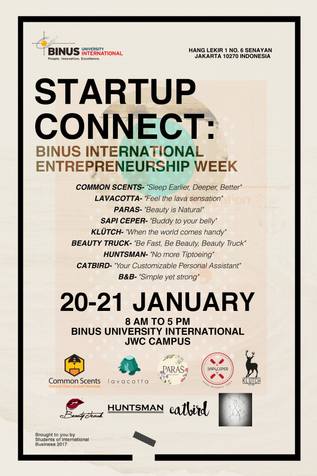 2016 Young entrepreneurs week Binus International