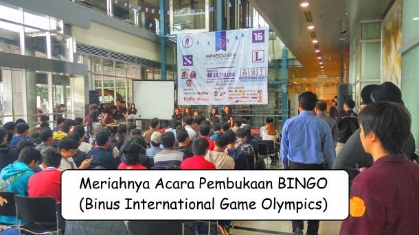 Pembukaan BINGO (Binus International Game Olympics) 2016
