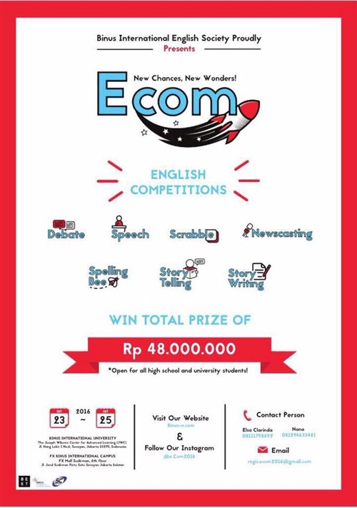 E.Com-English-Competition-New-Chances-New-Wonders-Binus-International-University-23-25-Sept-2016