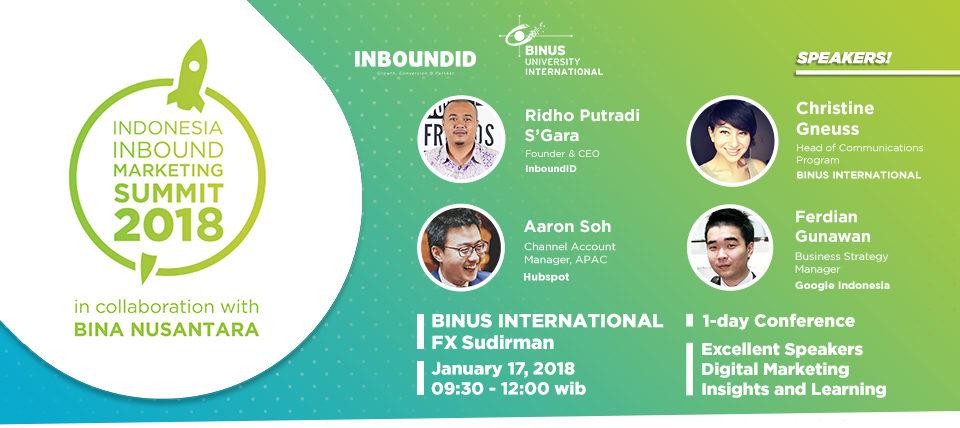 Indonesia Inbound Marketing Summit 2018