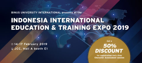 BINUS INTERNATIONAL at Indonesia International Education & Training Expo 2019