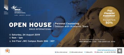 BINUS INTERNATIONAL Open House – 24 August 2019