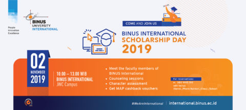 BINUS INTERNATIONAL Scholarship Day 2019