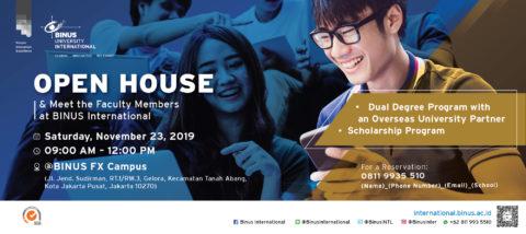 BINUS INTERNATIONAL Open House – 23 November 2019