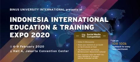 BINUS INTERNATIONAL Presents at IIETE 2020