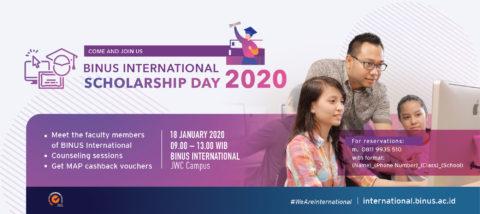 BINUS INTERNATIONAL Scholarship Day 2020